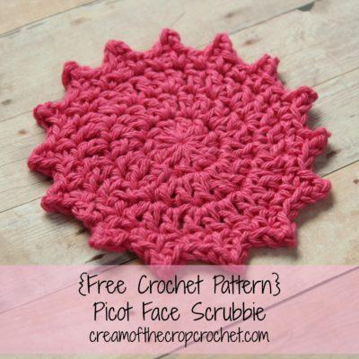 Picot Face Scrubbie Crochet Pattern