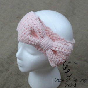 Cream Of The Crop Crochet ~ Bow Ear Warmers {Free Crochet Pattern}