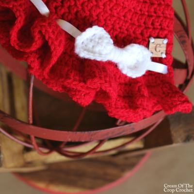 Newborn Ruffle Hat Crochet Pattern