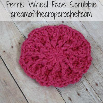 Ferris Wheel Face Scrubbie Crochet Pattern