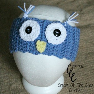 Cream Of The Crop Crochet ~ Owl Ear Warmers {Free Crochet Pattern}