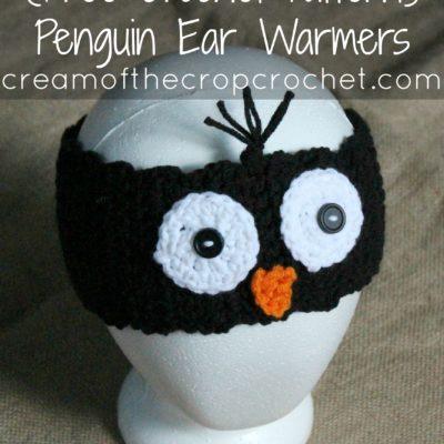 Penguin Ear Warmers Crochet Pattern