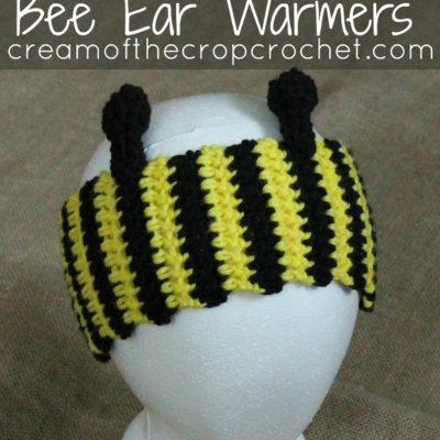 Bee Ear Warmers Crochet Pattern