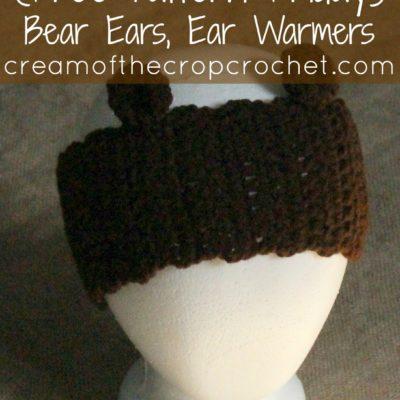 Bear Ear Warmers Crochet Pattern