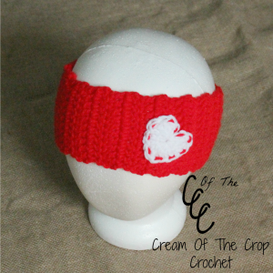 Cream Of The Crop Crochet ~ Heart Ear Warmers {Free Crochet Pattern}