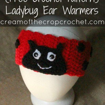 Ladybug Ear Warmers Crochet Pattern