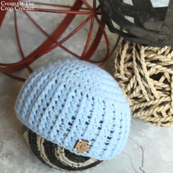 Textured Newborn Hat Crochet Pattern | Cream Of The Crop Crochet