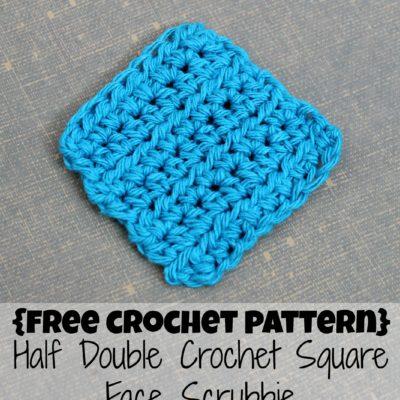Half Double Crochet Square Face Scrubbie Crochet Pattern