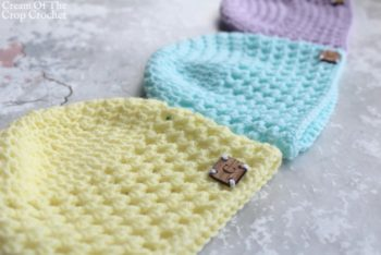 Mesh Newborn Hat Crochet Pattern | Cream Of The Crop Crochet