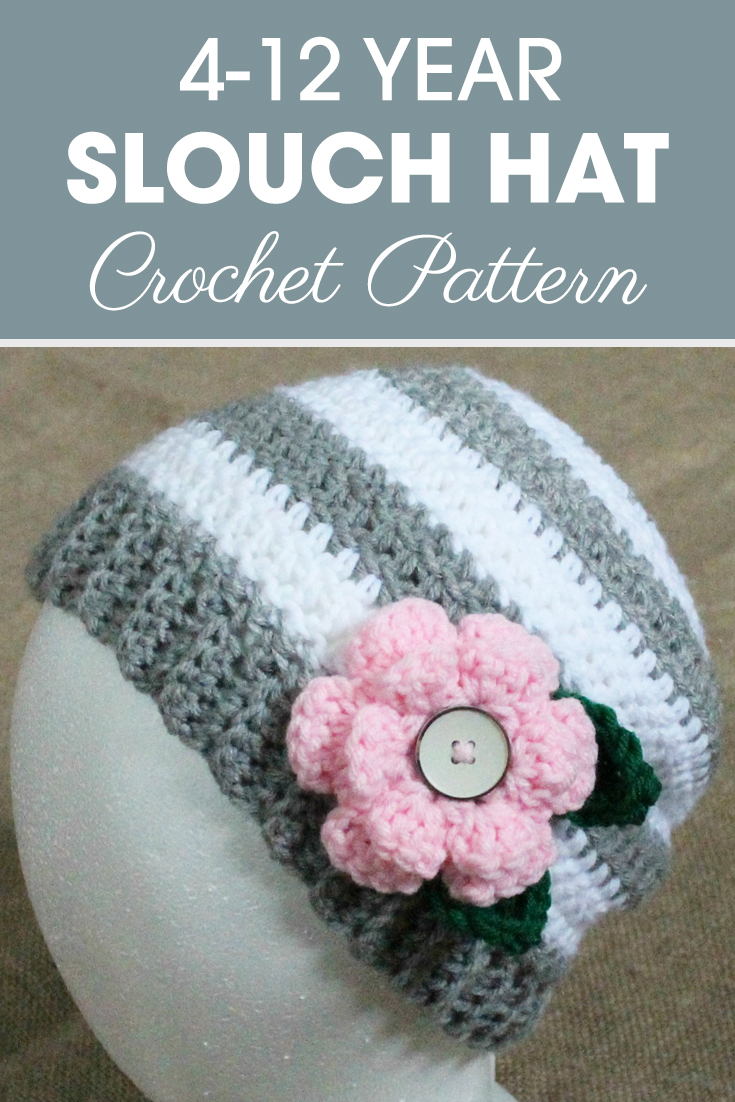 Due to high request, we decided to make a child size of this flower slouchy hat! What is your favorite part about this slouchy hat? We love how you could change out the flower if you wanted for any color, to go with anything! #crochet #crochetlove #crochetaddict #crochetpattern #crochetinspiration #ilovecrochet #crochetgifts #crochet365 #addictedtocrochet #yarnaddict #yarnlove #crochethat