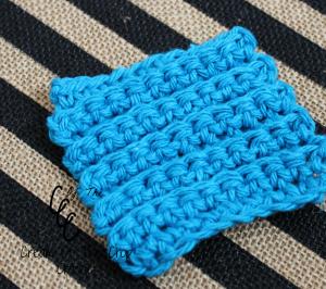 Cream Of The Crop Crochet ~ Texture Square Face Scrubbie {Free Crochet Pattern}