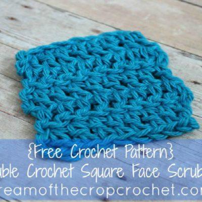 Double Crochet Square Face Scrubbie Crochet Pattern
