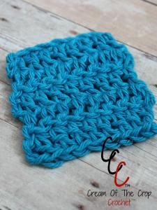 Cream Of The Crop Crochet ~ Double Crochet Square Face Scrubbie {Free Crochet Pattern}