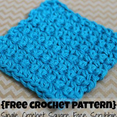 Single Crochet Square Face Scrubbie Crochet Pattern