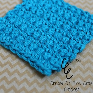 Cream Of The Crop Crochet ~ Single Crochet Square Face Scrubbie {Free Crochet Pattern}