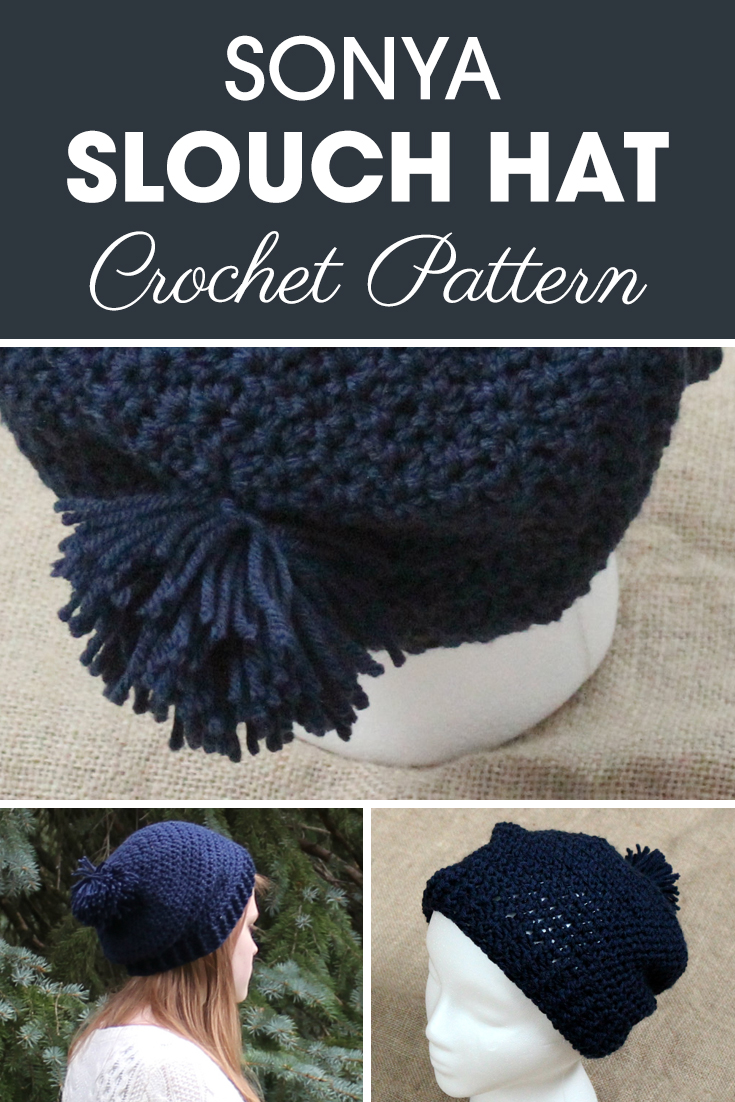 This Slouchy Pom Pom hat is perfect for someone that loves plain and simple. #crochet #crochetlove #crochetaddict #crochetpattern #crochetinspiration #ilovecrochet #crochetgifts #crochet365 #addictedtocrochet #yarnaddict #yarnlove #crochethat