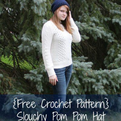 Sonya Slouch Hat Crochet Pattern