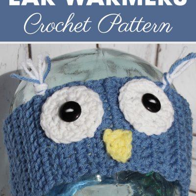 Owl Ear Warmers Crochet Pattern