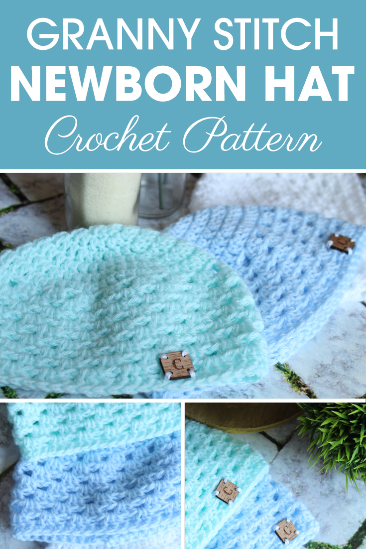 Make this Granny Stitch Newborn Hat Crochet Pattern with Ashley! Plus get a little extra help if needed with the video tutorial. #crochet #crochetlove #crochetaddict #crochetpattern #crochetinspiration #ilovecrochet #crochetgifts #crochet365 #addictedtocrochet #yarnaddict #yarnlove #crochethat
