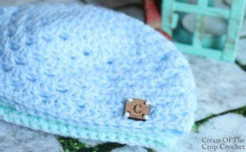 Granny Stitch Newborn Hat Crochet Pattern   Cream Of The Crop Crochet