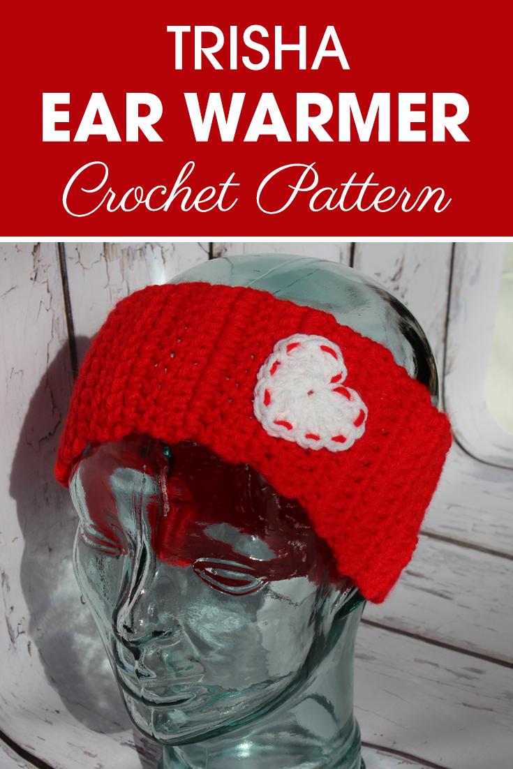 Show your love for the winter holiday with these heart ear warmers! #crochet #crochetlove #crochetaddict #crochetpattern #crochetinspiration #ilovecrochet #crochetgifts #crochet365 #addictedtocrochet #yarnaddict #yarnlove #crochetaccessory