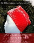 Cream Of The Crop Crochet ~ Heho-Voyageur Inspired Slouchy Beanie ~ Tunisian Crochet Chick {Free Crochet Pattern}