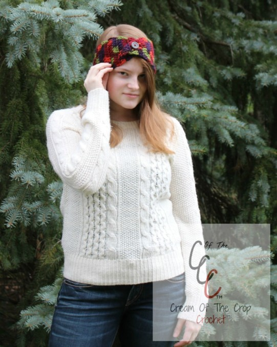 Cream Of The Crop Crochet ~ Button Flap Ear Warmers {Free Crochet Pattern}