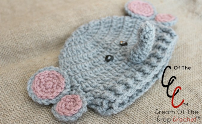 Cream Of The Crop Crochet ~ Preemie/Newborn Elephant Hats {Free Crochet Pattern}