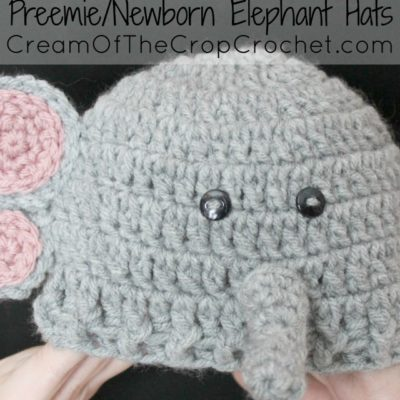 PATTERN Instant Download, Newborn-12 Months Elephant Hat and ... | 400x400