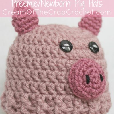 Preemie Newborn Pig Hat Crochet Pattern