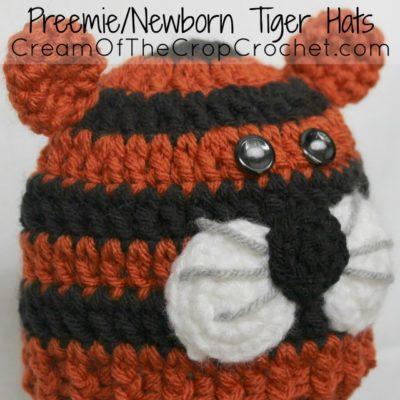 Preemie Newborn Tiger Hat Crochet Pattern
