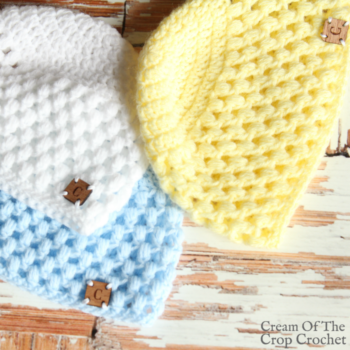 Puff Newborn Hat Crochet Pattern | Cream Of The Crop Crochet