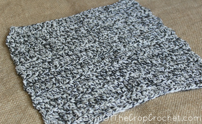 Triple Crochet Washcloth Dishcloth Crochet Pattern Cream Of The