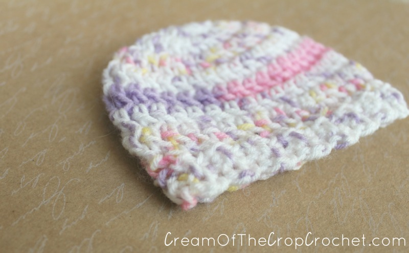 1-3 lb Preemie Light Worsted Weight Stretchy Ribbed Hat Crochet ... 291cdb01685