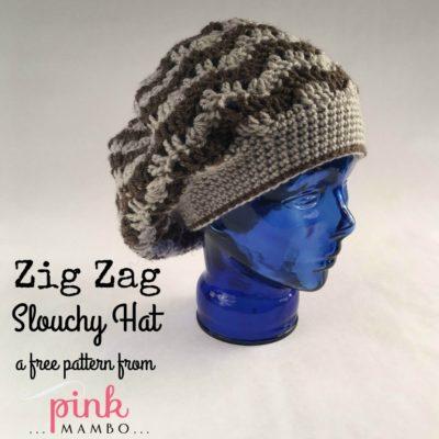 Zig Zag Slouchy Hat Crochet Pattern