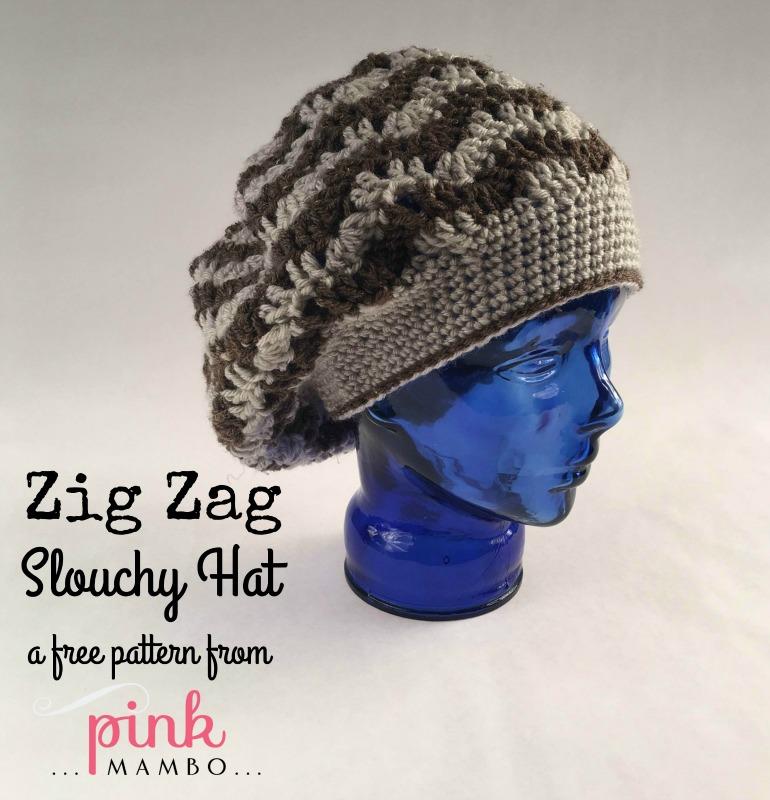 Zig Zag Slouchy Hat Crochet Pattern Cream Of The Crop Crochet