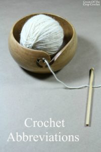Crochet Abbreviations | Cream Of The Crop Crochet