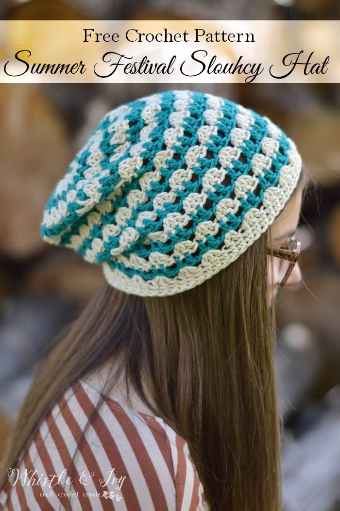Summer Festival Slouchy Hat Cream Of The Crop Crochet