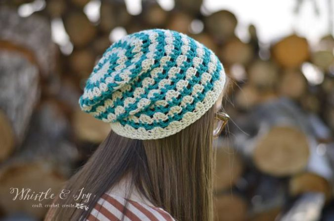 Whistle and Ivy ~Summer Festival Slouchy Hat {Free Crochet Pattern}