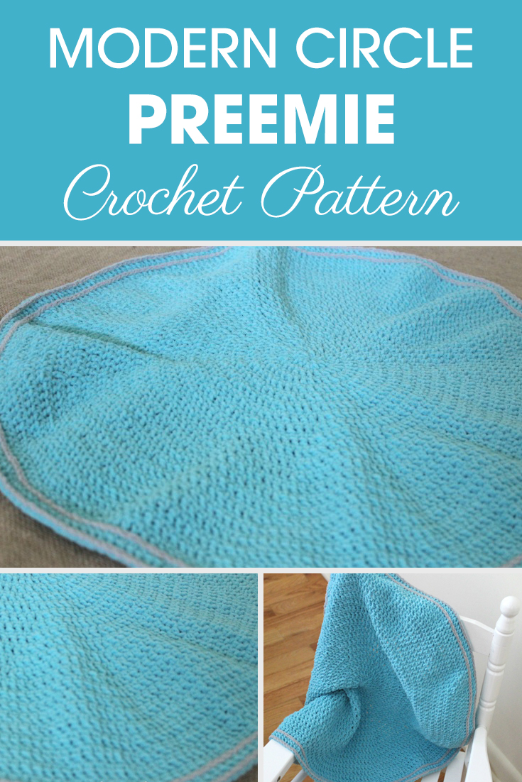 Bring a modern spin to the nursery with this Modern Circle Preemie Blanket! #crochet #crochetlove #crochetaddict #crochetpattern #crochetinspiration #ilovecrochet #crochetgifts #crochet365 #addictedtocrochet #yarnaddict #yarnlove #crochetblanket