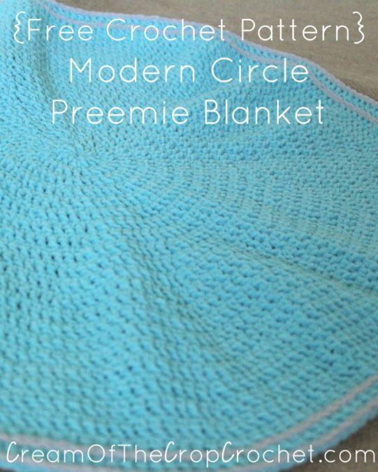 Cream Of The Crop Crochet ~ Modern Circle Preemie Blanket {Free Crochet Pattern}