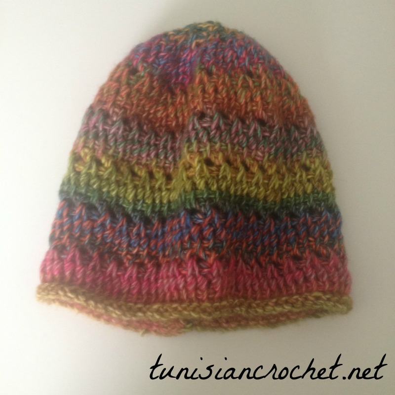 Rainbow Slouchy Beanie Crochet Pattern Cream Of The Crop Crochet