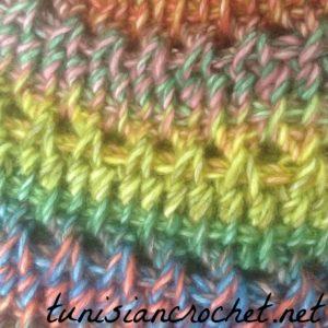 Rainbow Slouchy Beanie ~ Tunisian Crochet Chick {Free Crochet Pattern}