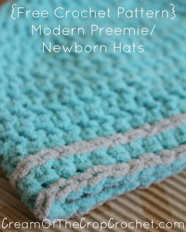 Preemie Newborn Hunter Hat Crochet Pattern Cream Of The Crop Crochet Best Preemie Crochet Patterns
