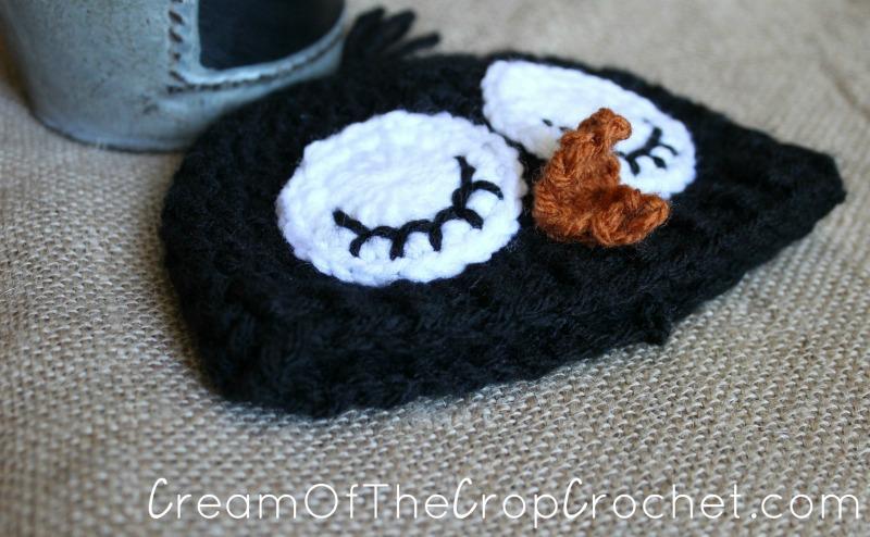 Preemie Newborn Adorable Penguin Hat Crochet Pattern Cream Of The
