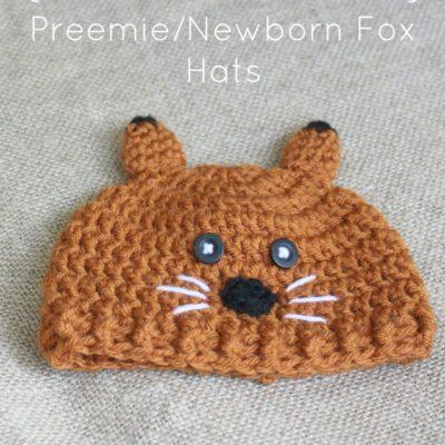 Preemie Newborn Fox Hat Crochet Pattern