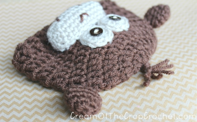 Preemie Newborn Monkey Hat Crochet Pattern Cream Of The Crop Crochet