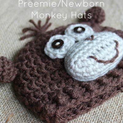 Preemie Newborn Monkey Hat Crochet Pattern