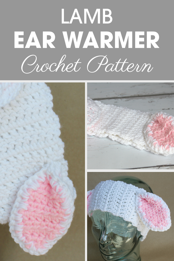 Looking for adorable lamb patterns? Make these lamb ear warmers! #crochet #crochetlove #crochetaddict #crochetpattern #crochetinspiration #ilovecrochet #crochetgifts #crochet365 #addictedtocrochet #yarnaddict #yarnlove #crochetaccessory