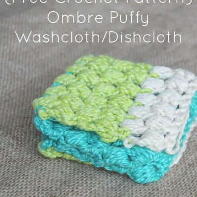 Ombre Puffy Washcloth Dishcloth Crochet Pattern